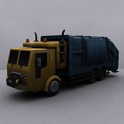 3d ready garbage truck model - Garbage Truck #3... by GameArt3D
