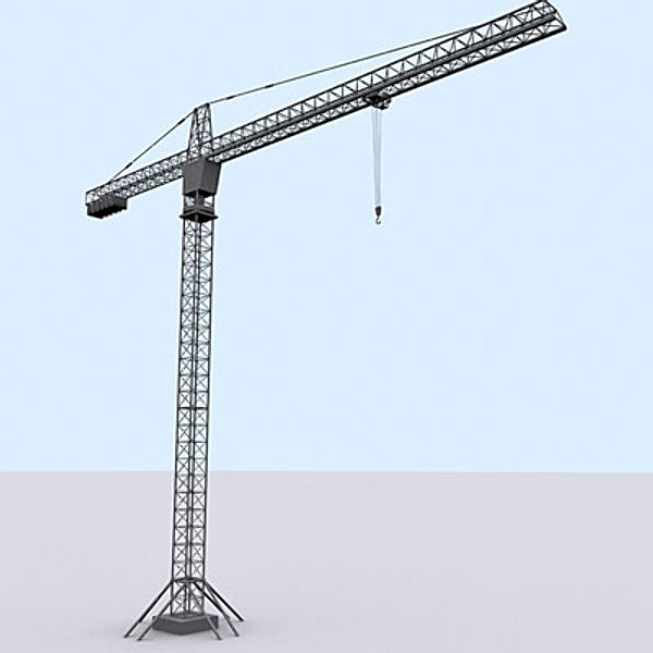 tower crane 3d model - Tower crane 3ds... by QLEE