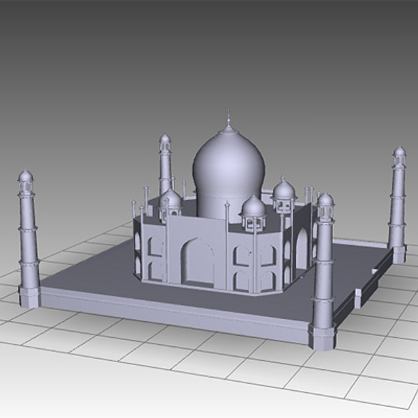 3d model taj mahal - Taj Mahal Mausoleum... by mostlysquare