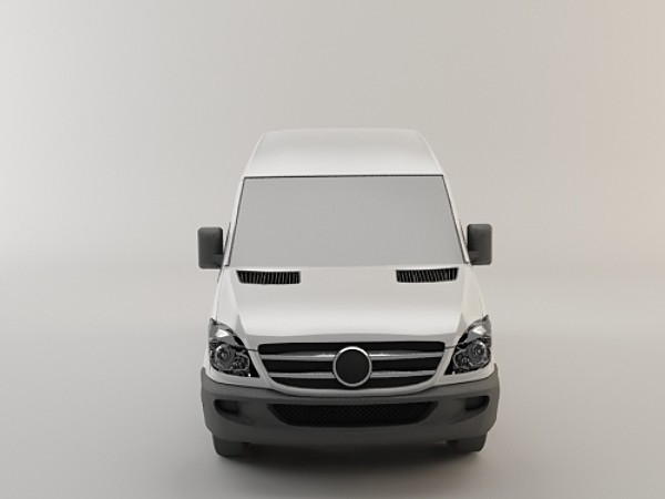 mercedes benz sprinter 3d model - Mercedes Benz Sprinter... by aldaris81