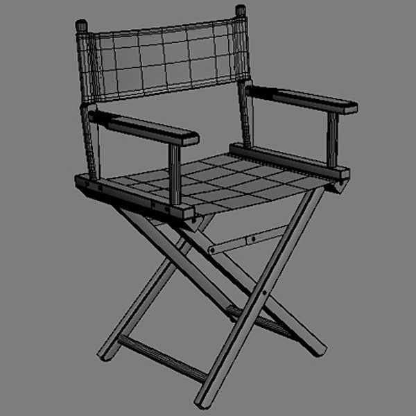 director chair 3d xsi - Director Chair... by coboide