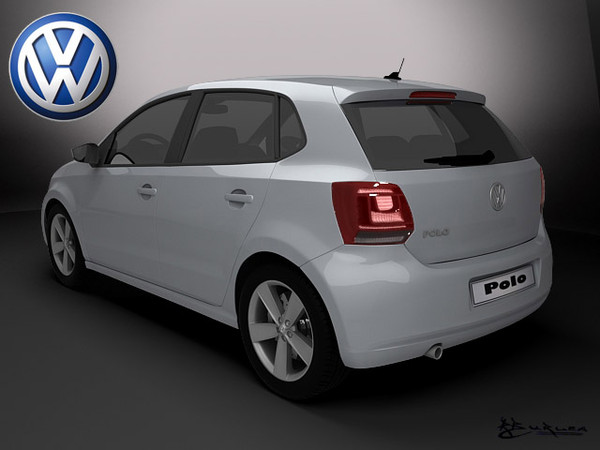 3d model polo 5door 2010 - Polo-5doors 2010... by rburlea