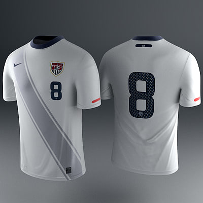 home soccer shirt - 3d model - US Shirt - Soccer Jersey... by RedTrey