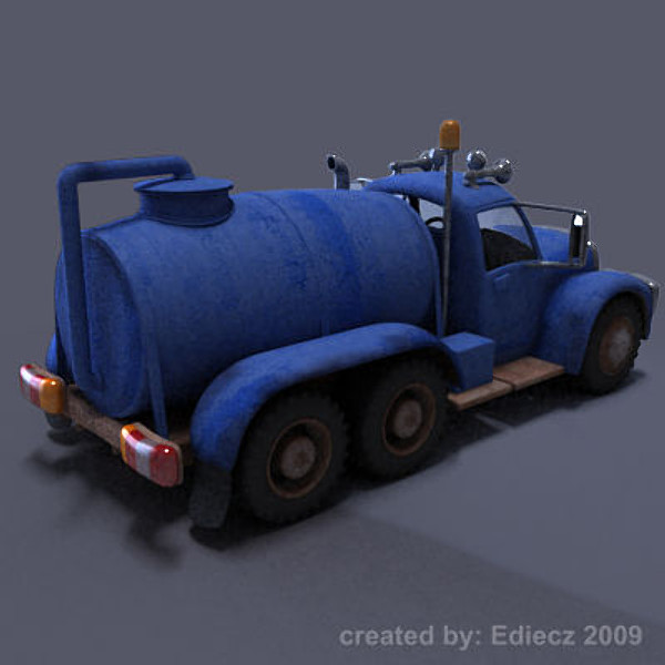truck cartoon 3d model - cartoon truck tank max... by Ediecz