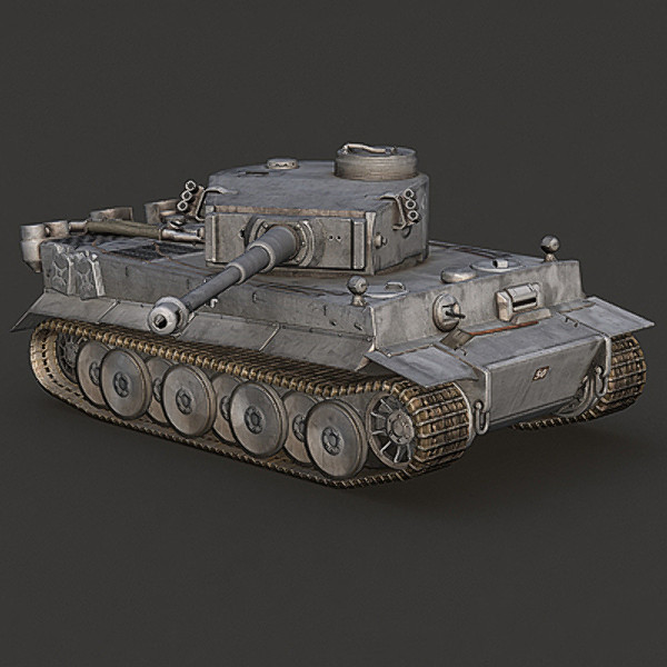 next-gen german tank modeled 3d model - WWII Tiger tank grey color - next-gen model... by Sunnncho