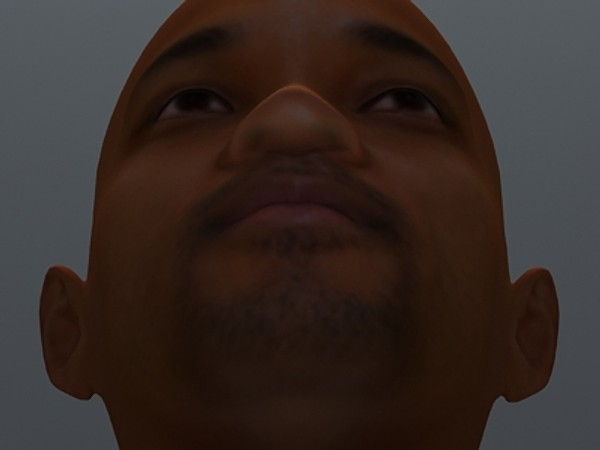 smith face uv 3d model - Will Smith... by fabelar