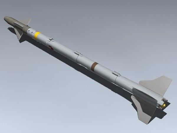 aim-9x sidewinder 3d model - AIM-9X Sidewinder... by Mesh Factory