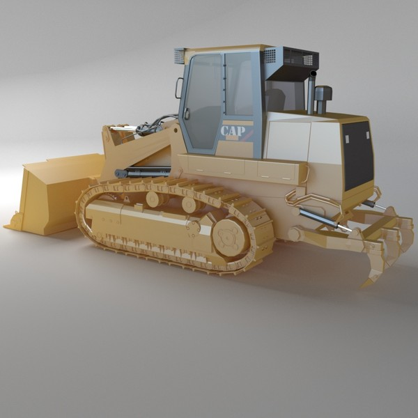 3d track loader industrial vehicles model - Track loader 02 by 3DRivers... by 3DRivers