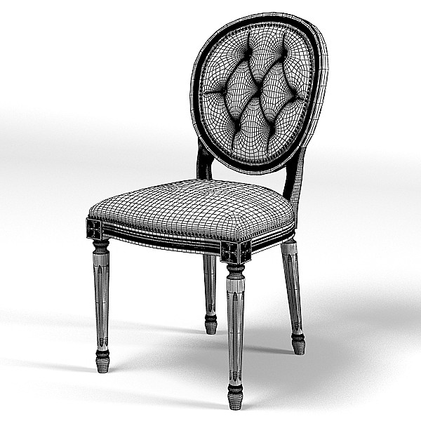 flai 530 classic 3d model - FLAI  530 CLASSIC TUFTED DINING CHAIR... by shop3ds