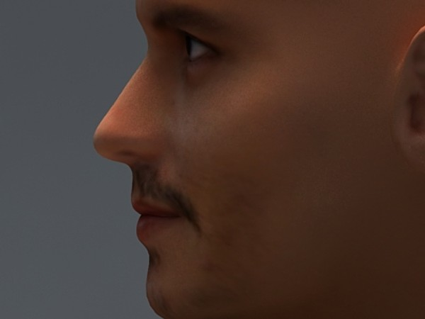 johnny depp 3d max - Johnny Depp... by fabelar