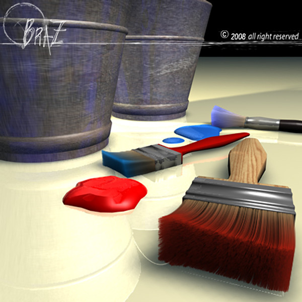 paint tools 3d model - Paint tools... by BraZ