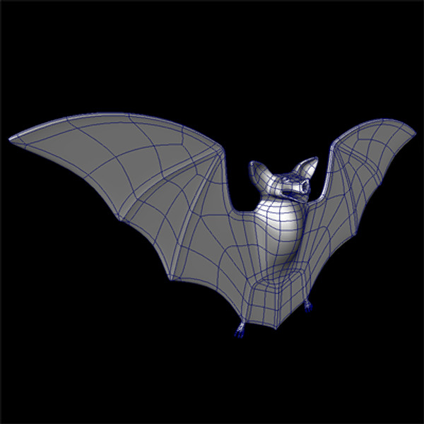 rigged bat 3d ma - Bat Rig... by BogusIndustries