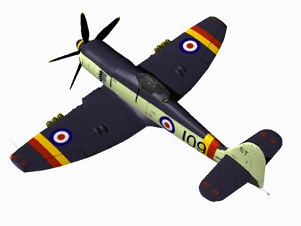 3d hawker sea fury fighters - Hawker Sea Fury FB11... by pbratt