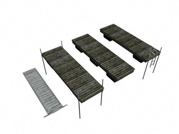 log cabin dock combo 3d obj - Log Cabin--Boat Dock GAME READY 360 View... by Monkey Wrench