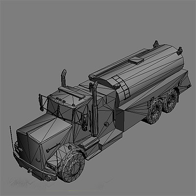 ready truck 3d model - Fire trucks collection... by GameArt3D