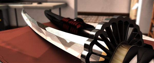 japanese dai-katana katana black 3d model - Black Dai-Katana.scn... by Polygon Pusher