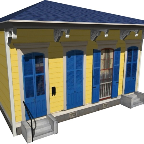 house new orleans 3d model - New Orleans House... by Mickey Models