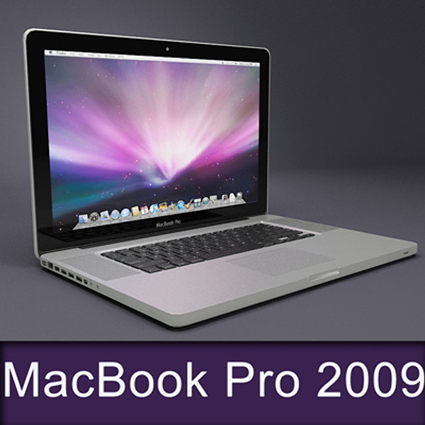 17 inch macbook pro 3d model - Macbook Pro 17 inch 2009... by ditodito designs