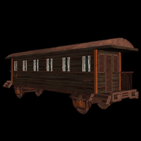 old wagons 3d model - 3 Old Railway Cars / Wagons... by utanmaz
