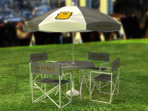 set chairs table 3d model - garden set... by hcaprara