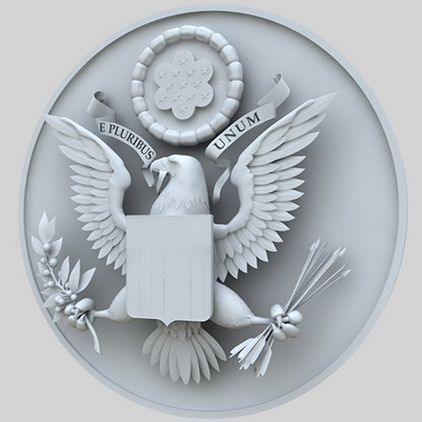 coat arms united states 3d obj - State Seal of United States... by Igor Yakovlev