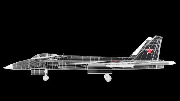 3d model of sukhoi 47 berkut airplane - Sukhoi 47 Berkut... by TotexArtz