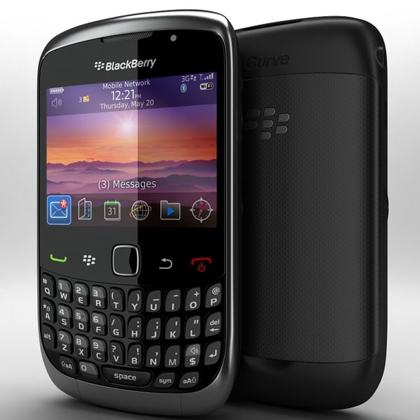 BlackBerry Curve 3G 9300 3D Models