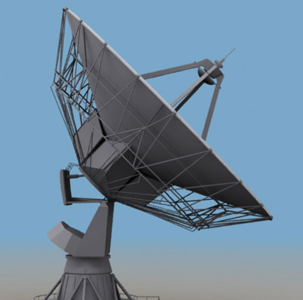 3d model based satellite antenna - Satellite Antenna... by sweiry_tv