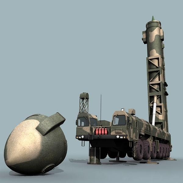 ballistic missile 3D models