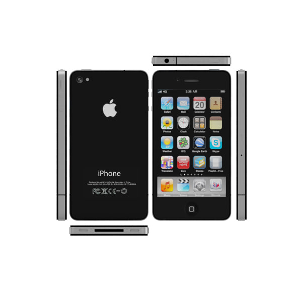 new iphone 4 ipod 3d model - new iPhone 4  iPod 4 Mac mini -  collection cell phone... by Leeift