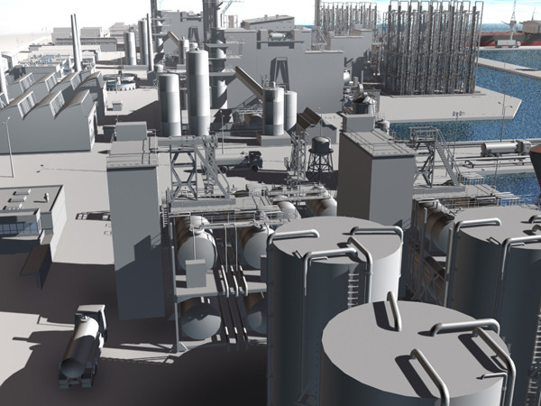 port harbour 3d model - PORT - HARBOUR... by Imagework