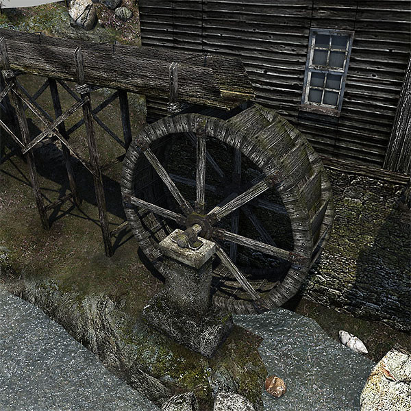watermill scene 3d model - Watermill Scene... by bemola