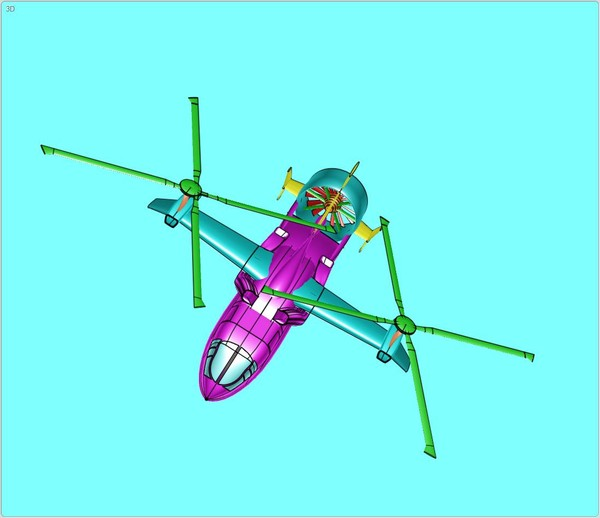 hybrid helicopter airplane assembly 3dm - Hybrid Helicopter Airplane Assembly Model... by RodgerSaintJohn