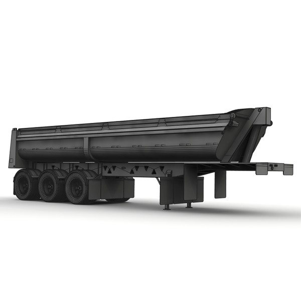 rear dump trailer sl3000 3d lwo - Midland SL3000 rear dump trailer... by bansheewoj