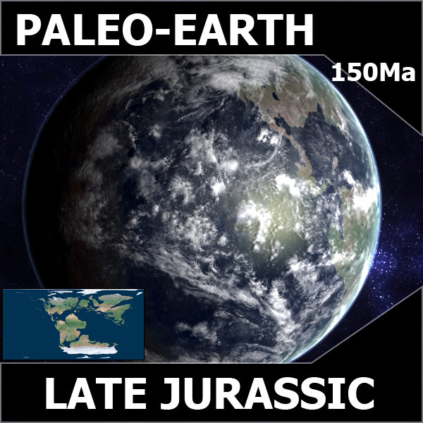 3d model jurassic earth late - Late Jurassic Earth... by MichaelTaylor3D