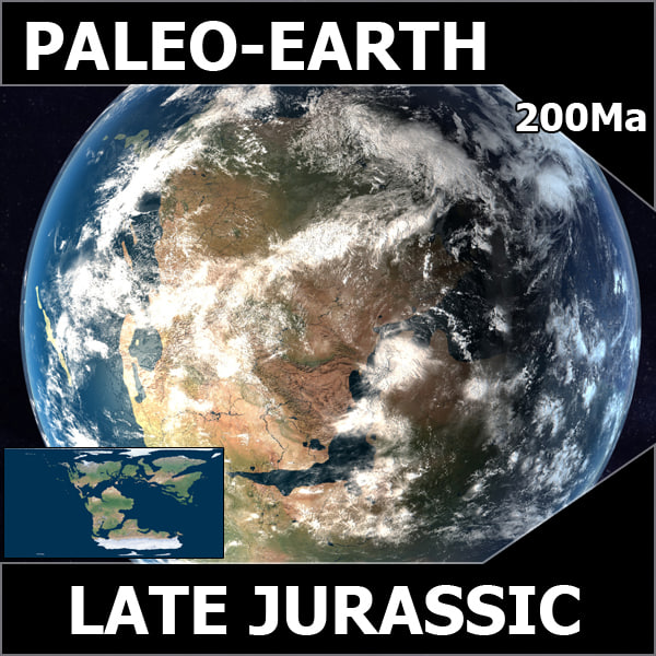 jurassic earth early 3d c4d - Early Jurassic Earth c4d... by MichaelTaylor3D