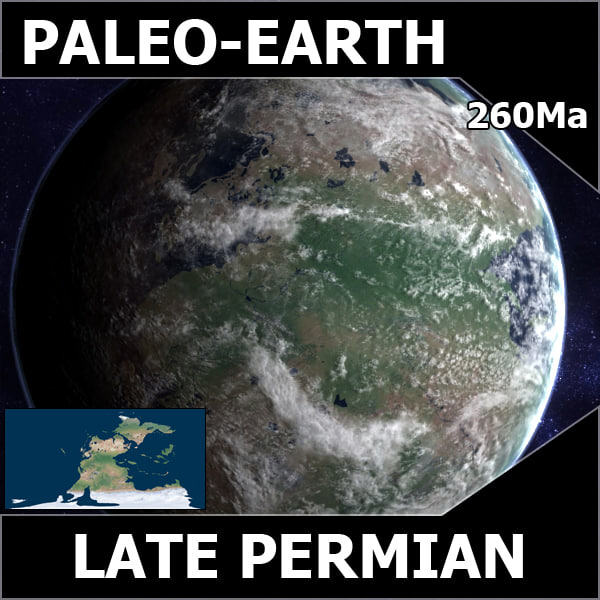 Late Permian Earth 3D Models