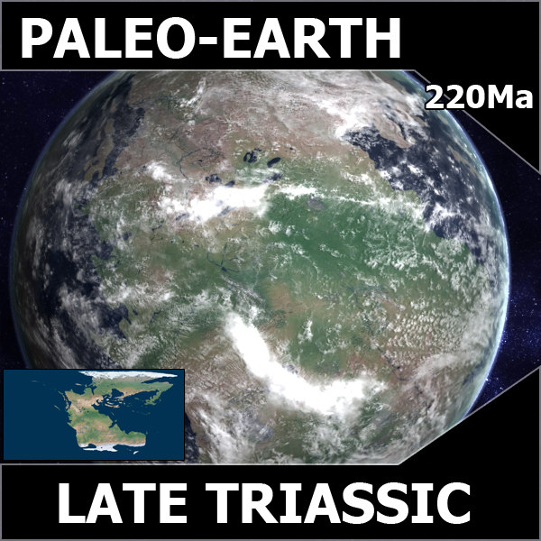 triassic earth late 3d model - Late Triassic Earth... by MichaelTaylor3D