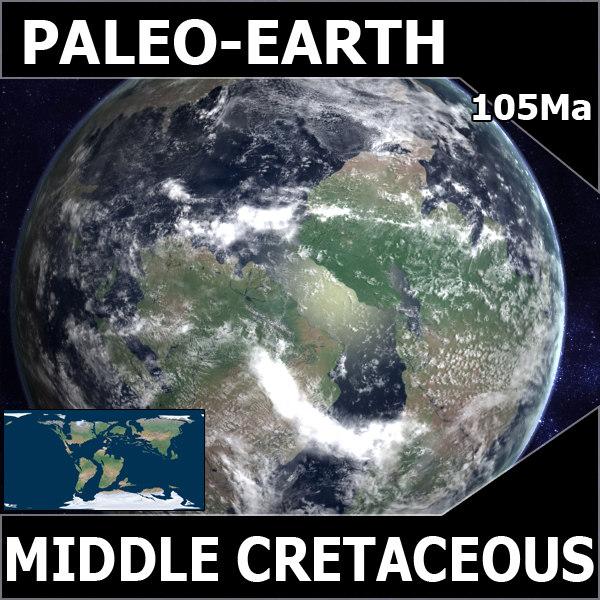 Middle Cretaceous Earth (2) 3D Models