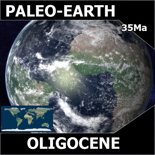 maya oligocene earth - Oligocene Earth... by MichaelTaylor3D