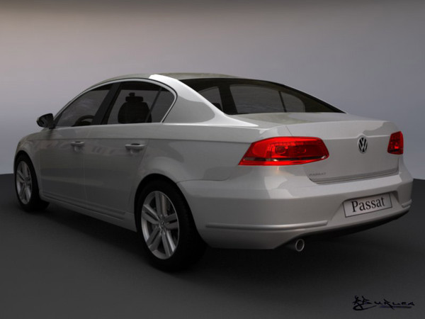 volkswagen passat sedan 2011 3d model - Volkswagen Passat Sedan 2011... by rburlea