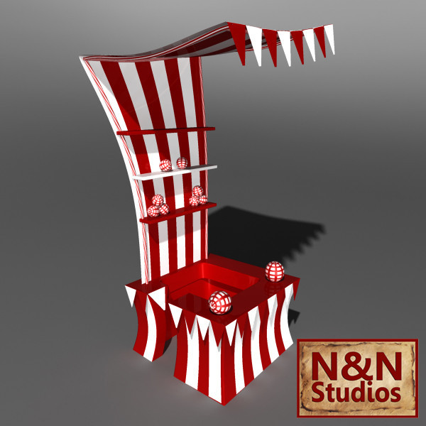 maya circus stand - Circus Stand... by NandN_Studios
