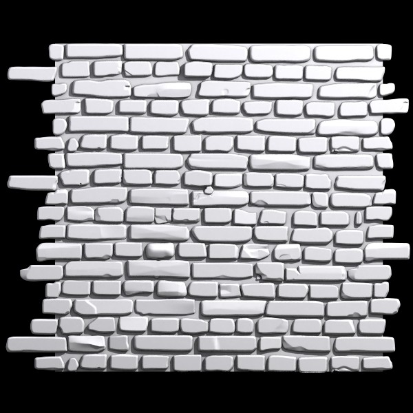 brick wall 01 3d model - Bricks wall #01... by Sunnncho