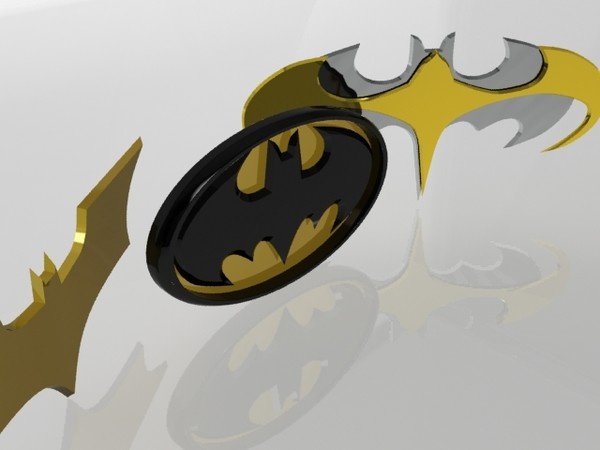 batlogos action hero 3d model - Batlogo... by christiano247