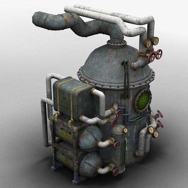 3d model dirty rusty boilerstation - Boiler... by bemola