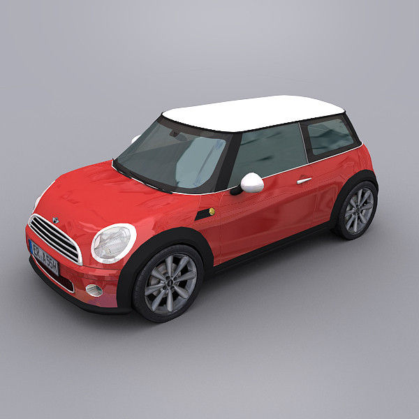 3d mini cooper model - Mini Cooper... by Clicheeee