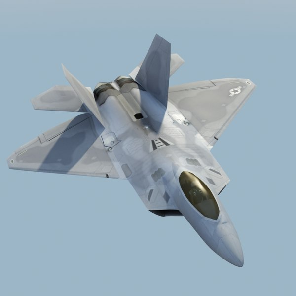 3d model f22a raptor f-22 fighter - F22A Raptor VRay... by ES3DStudios