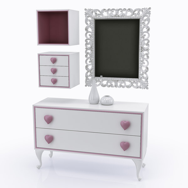 children s furniture halley 3d model - Collection of children