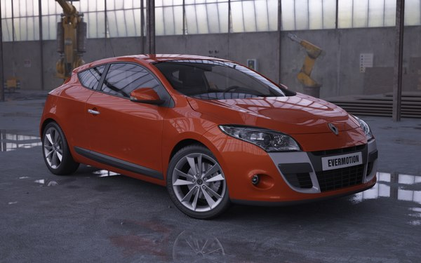 3ds max car renault megane coupe - Renault Megane Coupe... by evermotion