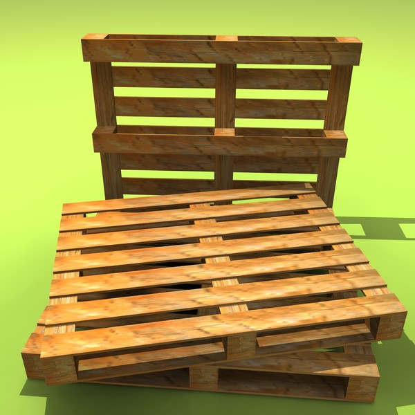 wooden pallet 3d model - Wood Pallet... by tanase laurentiu